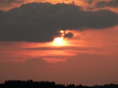 Photo Big Red Sunset 2 Landscape