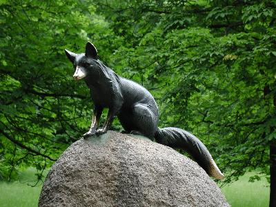 Photo Big Statue Fox Object