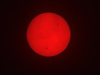 Photo Big Sunspots Space