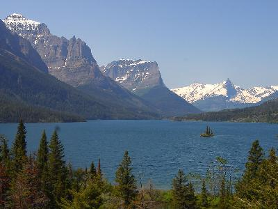 Photo Big Wild Goose Island On St Mary Lake Travel