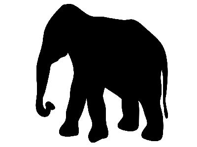 Contour Elephant Big Animal