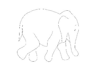 Elephant Outline Matthe R Big Animal