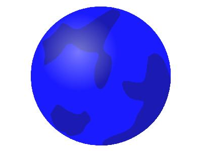 Svg Globe Blue Big Geography