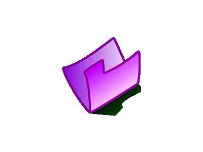 Folder Violet Computer
