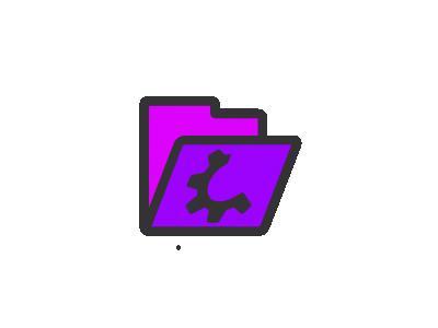 Folder Violet Open Computer