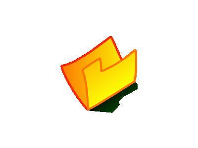 Folder Yellow Computer