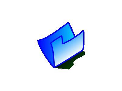 Folder Blue Computer