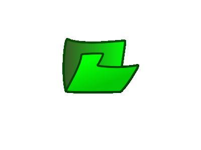 Folder Green Side Computer