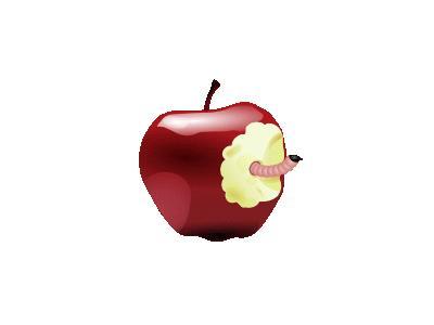 Apple With Worm Dan Gerh 01 Food