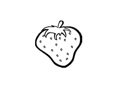 Strawberry Simple Bw Food