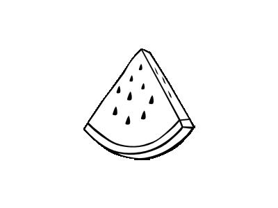 Watermelon Simple Bw Food