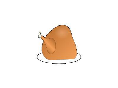 Turkey On Platter 01 Food