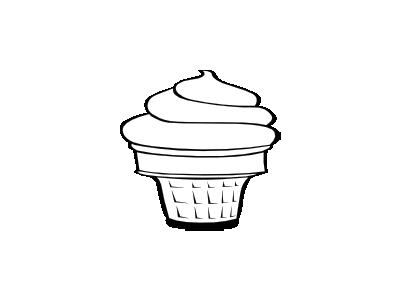 Cone Soft Bw Food