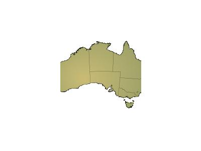Australia Shading With Boundaries Geography