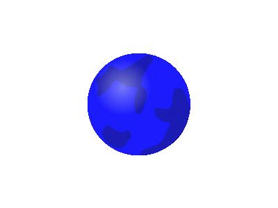 Svg Globe Blue Geography