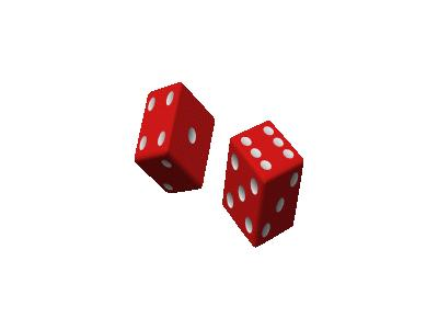 Two Red Dice 01 Recreation