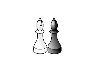 Black And White Bishop R Recreation