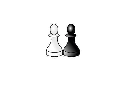 Black And White Pawns D R Recreation