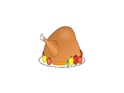 Turkey Platter 01 With Fruit And Vegitables 01 Recreation