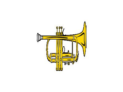Trumpet B Flat Colour Ganso Recreation