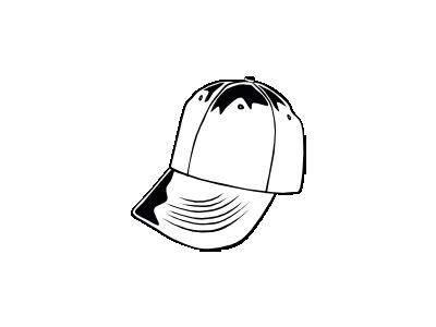 Baseball Cap Bw Ganson Recreation
