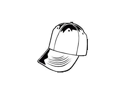 Baseball Cap Bw Ganson Recreation