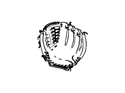 Baseball Glove Bw Ganson Recreation