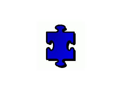 Jigsaw Blue 01 Shape