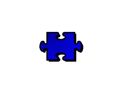 Jigsaw Blue 02 Shape