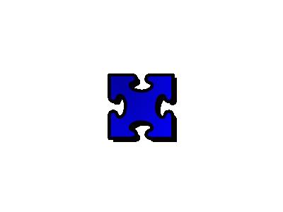 Jigsaw Blue 03 Shape