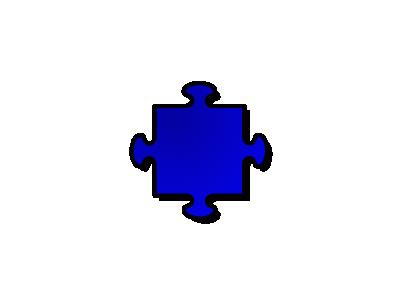 Jigsaw Blue 04 Shape