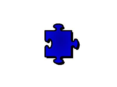 Jigsaw Blue 05 Shape
