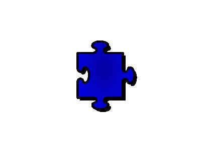 Jigsaw Blue 05 Shape