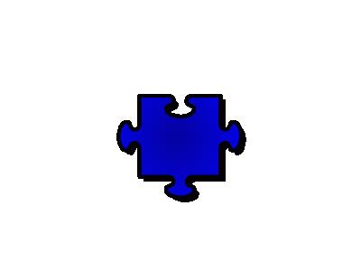 Jigsaw Blue 06 Shape