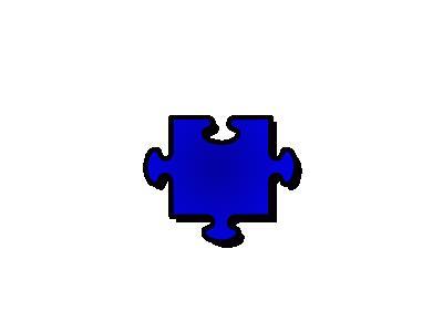 Jigsaw Blue 06 Shape