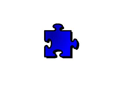 Jigsaw Blue 09 Shape