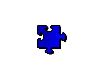 Jigsaw Blue 10 Shape