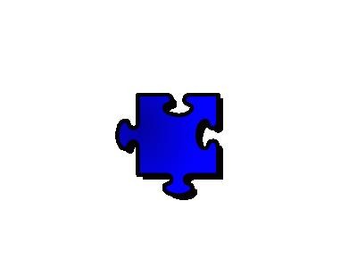 Jigsaw Blue 11 Shape
