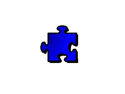 Jigsaw Blue 12 Shape