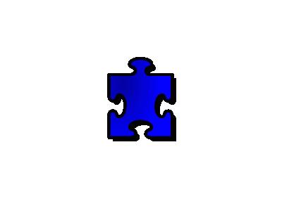 Jigsaw Blue 13 Shape