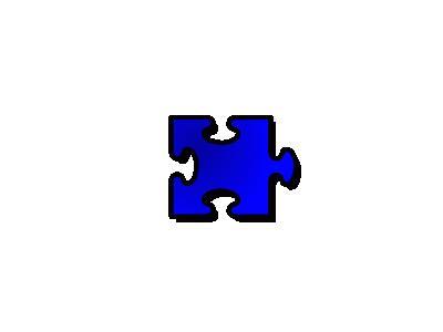 Jigsaw Blue 14 Shape