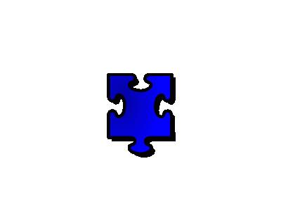 Jigsaw Blue 15 Shape