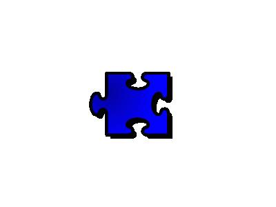 Jigsaw Blue 16 Shape
