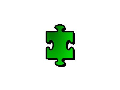 Jigsaw Green 01 Shape