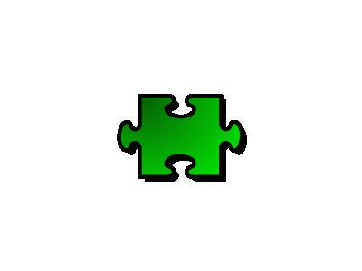 Jigsaw Green 02 Shape