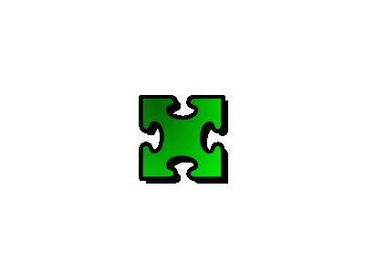 Jigsaw Green 03 Shape