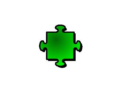 Jigsaw Green 04 Shape