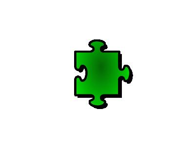 Jigsaw Green 05 Shape