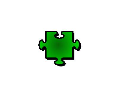 Jigsaw Green 06 Shape