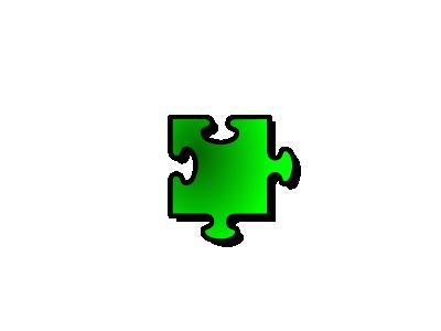 Jigsaw Green 10 Shape